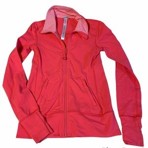 Ivivva size 8 pink coral jacket full zip sweater